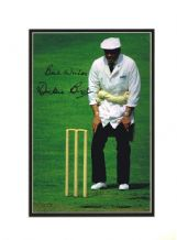 Dickie Bird Autograph Signed Photo - Cricket